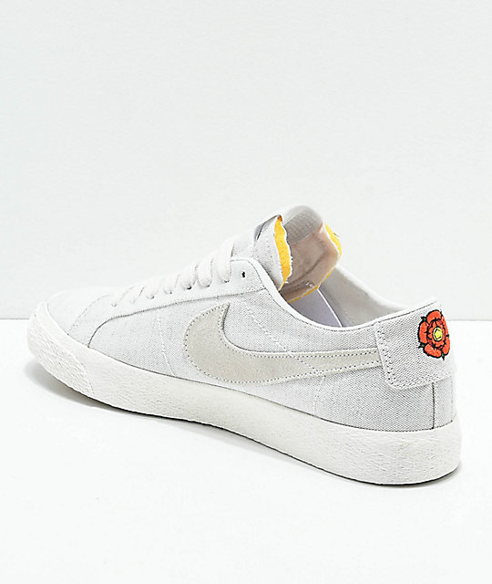 ... Nike SB Lance Mountain Blazer Low Deconstructed Grey Canvas Skate Shoes  ... b6c93821c