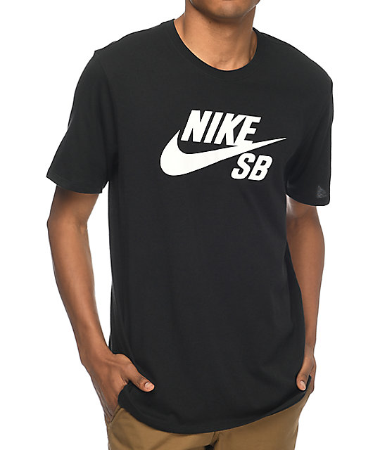 26673afe5 Nike SB Logo Black T-Shirt | Zumiez