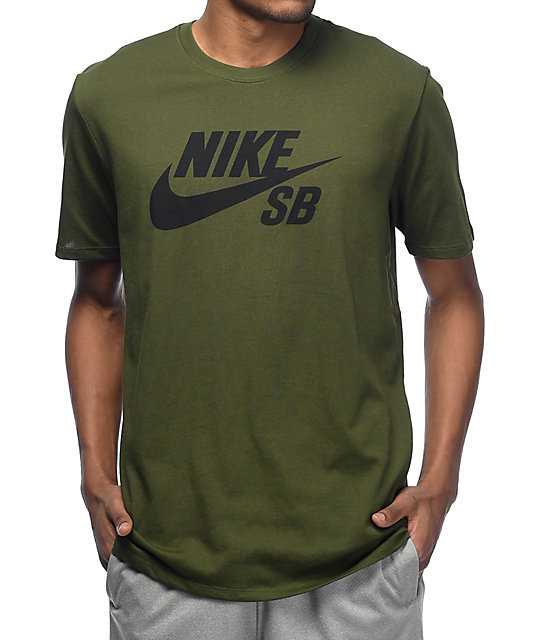 9cddf5edeffa Nike SB Logo camiseta verde ...