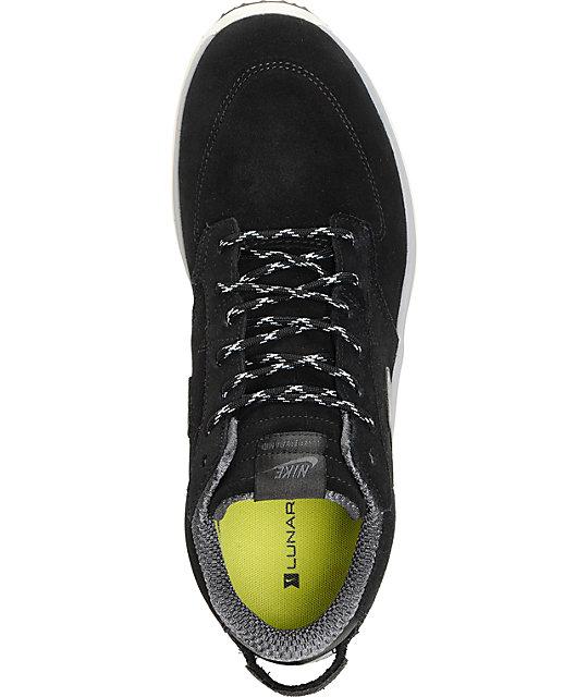 55d8da33c4e2 ... Nike SB Lunar Braata Mid OMS Black   Matte Silver Shoes ...