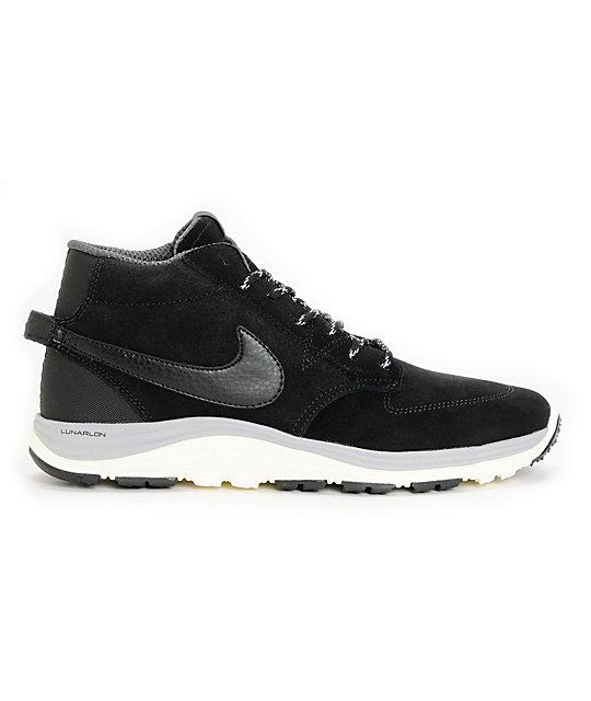 bb394afdac54 ... Nike SB Lunar Braata Mid OMS Black   Matte Silver Shoes