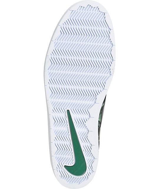newest c9b67 00904 ... Nike SB Lunar Oneshot Black  Gorge Green Skate Shoes ...