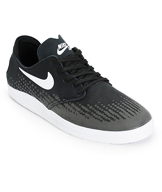 competitive price be3a0 2fb29 ... canada nike sb lunar oneshot black white dots skate shoes 06c5d 005e1