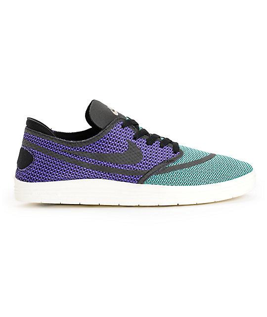 factory authentic 576d5 3a823 ... Nike SB Lunar Oneshot RR Crystal Mint, Black,   Hyper Grape Shoes