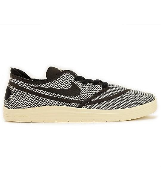 5487933cc7f9 ... Nike SB Lunar Oneshot RR Ivory   Black Skate Shoes