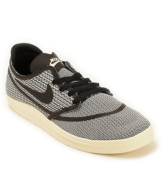 Nike SB Lunar Oneshot RR Ivory & Black Skate Shoes ...