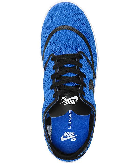 81430b3ca672 ... Nike SB Lunar Oneshot RR Royal Blue Skate Shoes ...