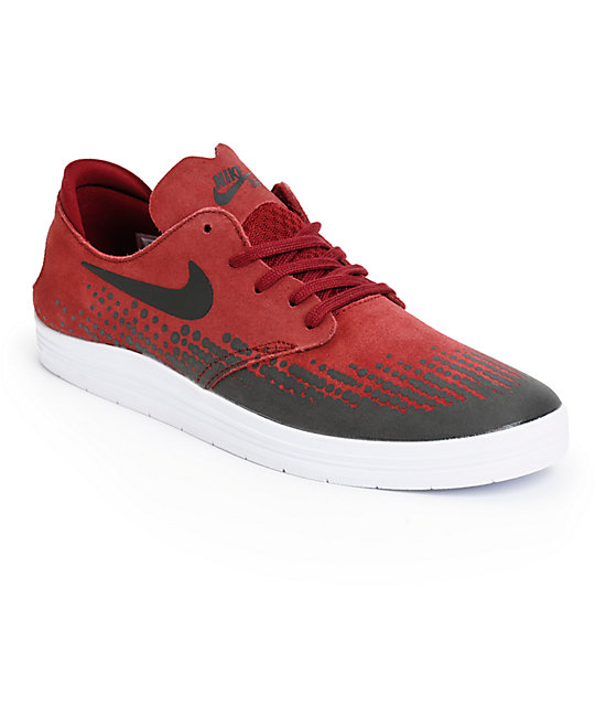 Nike SB Lunar Oneshot Team Red & Black Skate Shoes ...