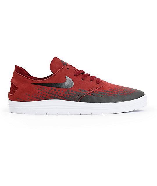 Nike-sb-lunaire-one Shot Équipe Rouge-noir-skate-shoes.html