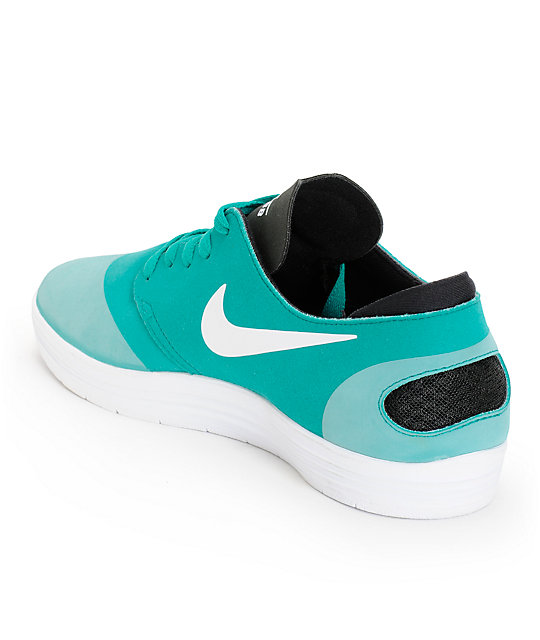 buy popular fda41 edf51 ... wholesale nike sb lunar oneshot turbo green white black shoes 1fb97  40b62