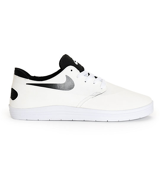 sports shoes 80668 90366 ... canada nike sb lunar oneshot white black skate shoes 22217 d9c4e