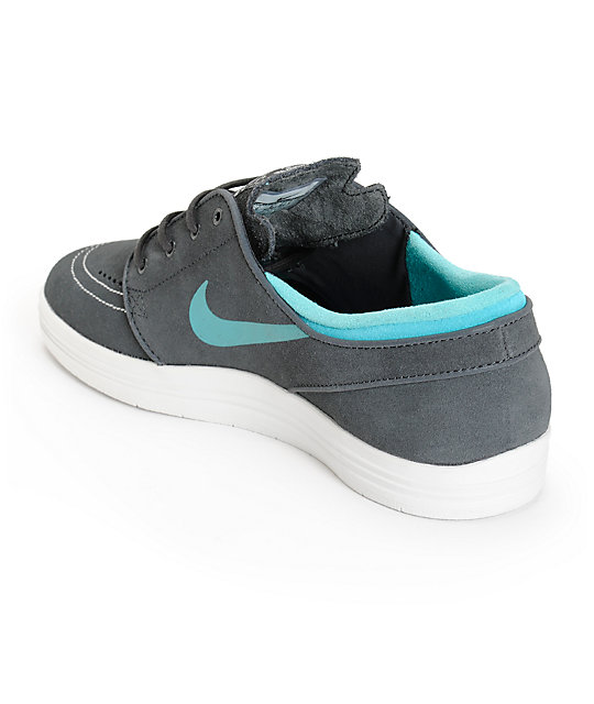 quality design 9f72f 7bb0d ... Nike SB Lunar Stefan Janoski Anthracite   Cactus Skate Shoes ...