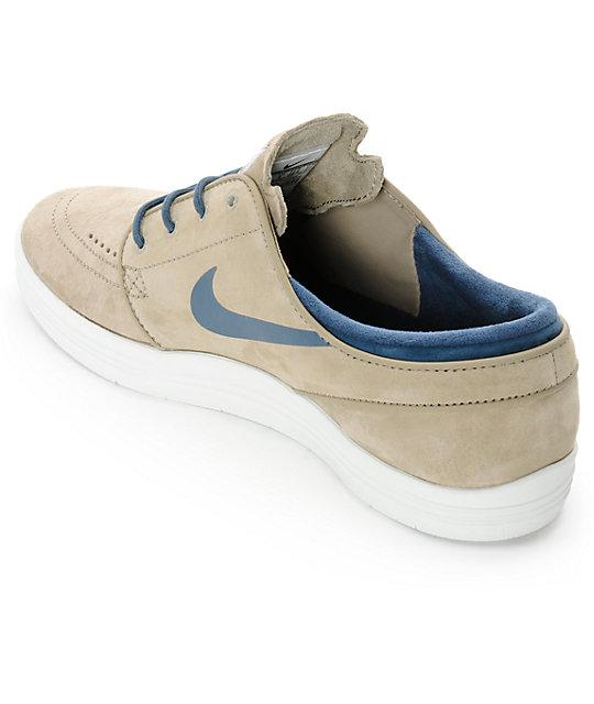 f0b661546367 ... Nike SB Lunar Stefan Janoski Bamboo   Squadron Blue Skate Shoes ...