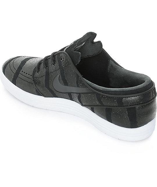 reputable site 520ed 4308f ... Nike SB Lunar Stefan Janoski Black, Anthracite,   Platinum Skate Shoes  ...