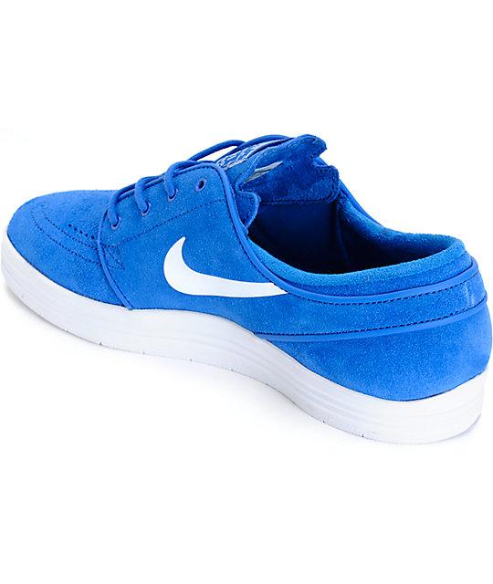 sports shoes 75bc4 2bd15 ... Nike SB Lunar Stefan Janoski Game Royal  White Skate Shoes ...
