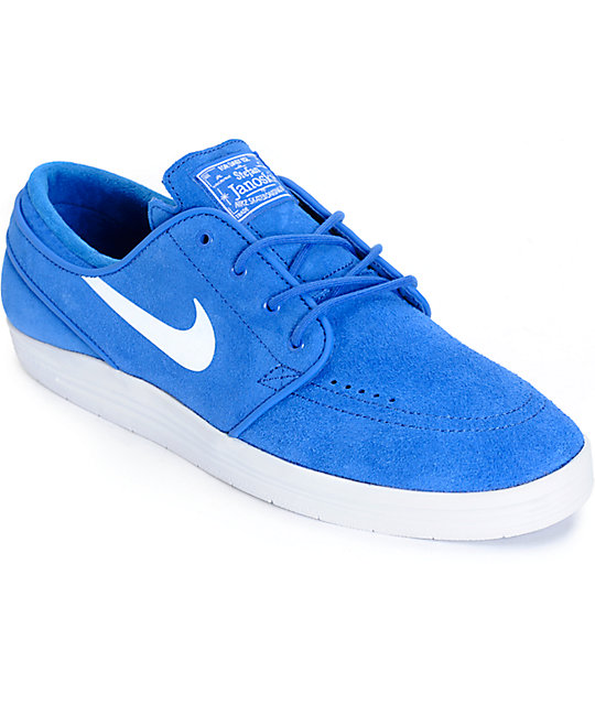 online store fb982 268dc Nike SB Lunar Stefan Janoski Game Royal  White Skate Shoes
