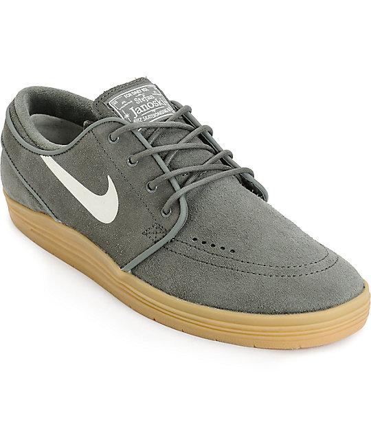 best cheap f15ee 7019e Nike SB Lunar Stefan Janoski zapatos de skate de color piedra de río y goma  ...