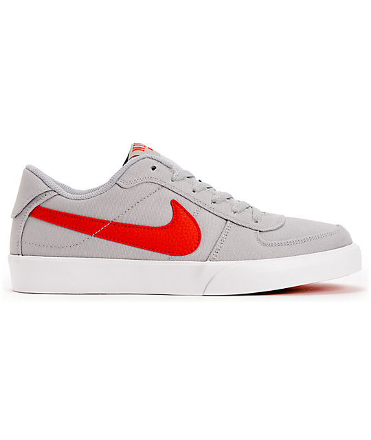 Nike SB Mavrk Low Grey & Hyper Red Skate Shoes