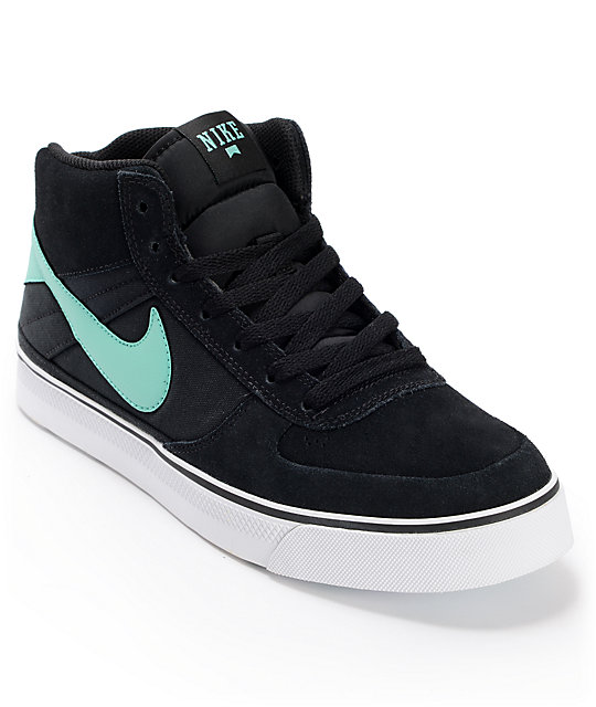 Nike SB Mavrk Mid 2 Black, White & Mint Skate Shoes