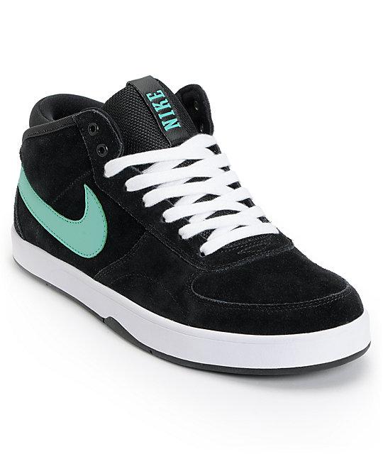 c62004996fd Nike SB Mavrk Mid 3 Black   Mint Suede Skate Shoes