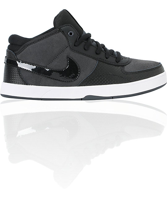 Nike SB Mavrk Mid 3 GS Boys Black & Anthracite Skate Shoes
