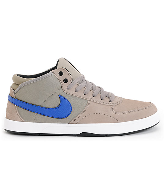 Nike SB Mavrk Mid 3 Iron & Drenched Blue Skate Shoes