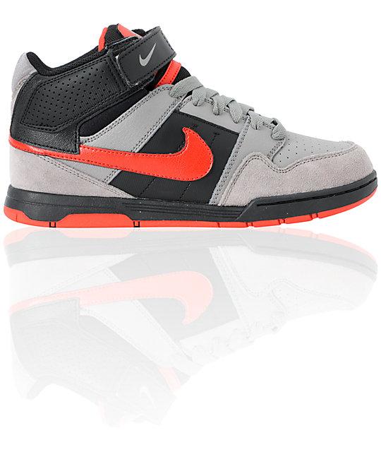 pretty nice 5facb 0a1e2 ... Nike SB Mogan Mid 2 Kids Charcoal  Chllng Red Skate Shoes