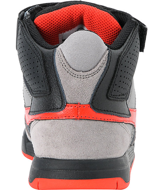 online retailer 75cd6 fe11b ... Nike SB Mogan Mid 2 Kids Charcoal  Chllng Red Skate Shoes ...