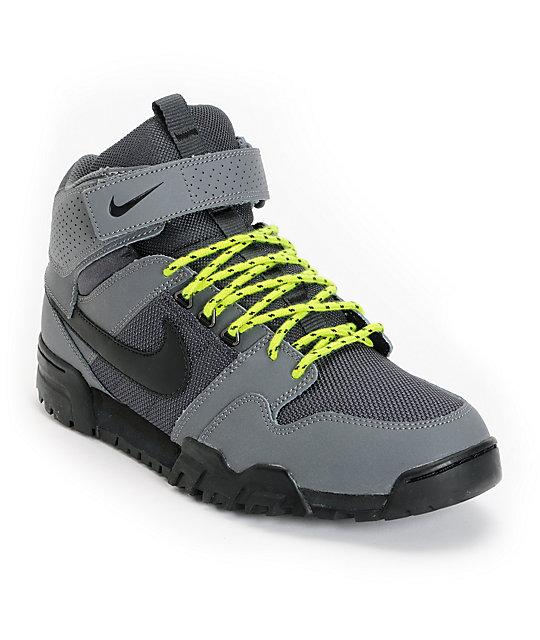 buy popular 84067 03405 Nike SB Mogan Mid 2 OMS Dark Grey   Atomic Green Shoes   Zumiez
