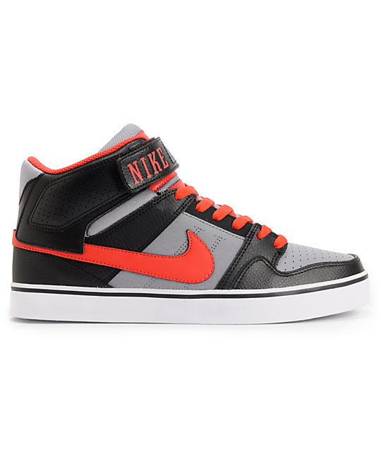 Nike SB Mogan Mid 2 SE Black, Pimento, & Stealth Suede Skate Shoes