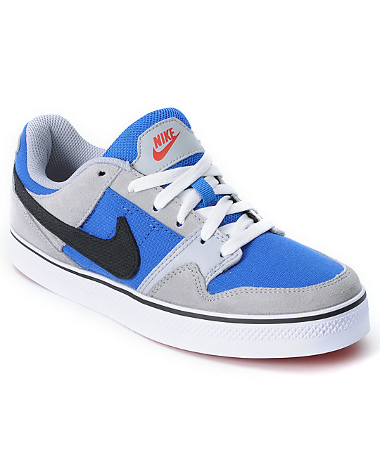 24b63d4a7d88 Nike SB Mogan Mid 2 SE JR Wolf Grey   Varsity Blue Kids Skate Shoes ...