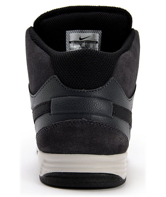 Nike SB Mogan Mid 3 Lunarlon Anthracite, Black, & Grey Shoes