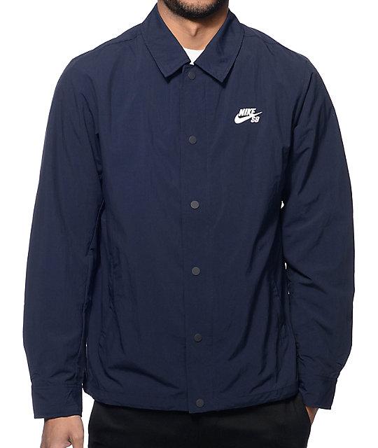 b472da8d Nike SB Navy Coach Jacket | Zumiez