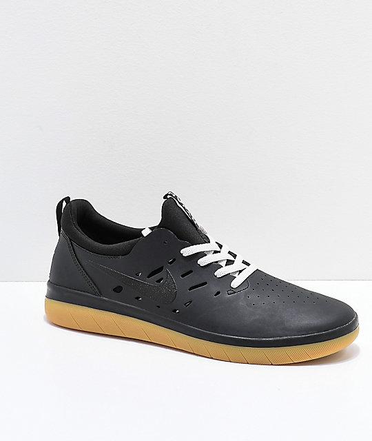 many fashionable unique design fashion style Nike SB Nyjah Free Black & Gum Skate Shoes