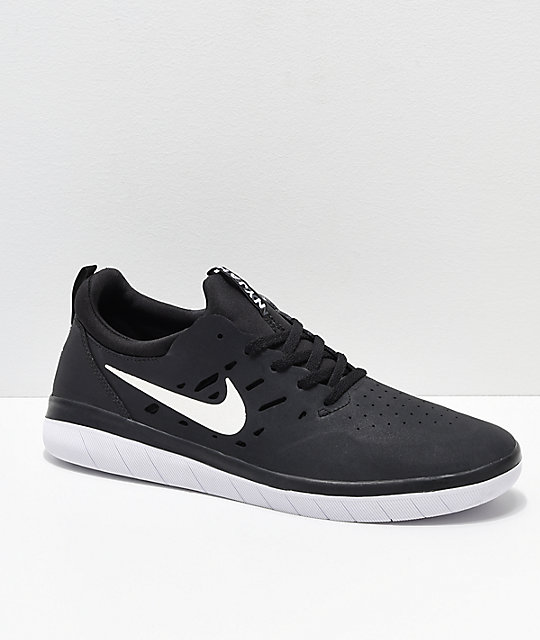 09f1de289f11 Nike SB Nyjah Free Black   White Skate Shoes