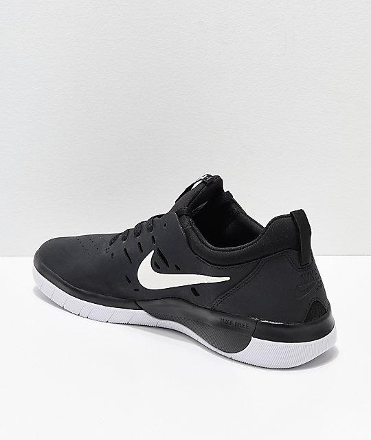 a78473bc4bb ... nike sb nyjah free black white skate shoes