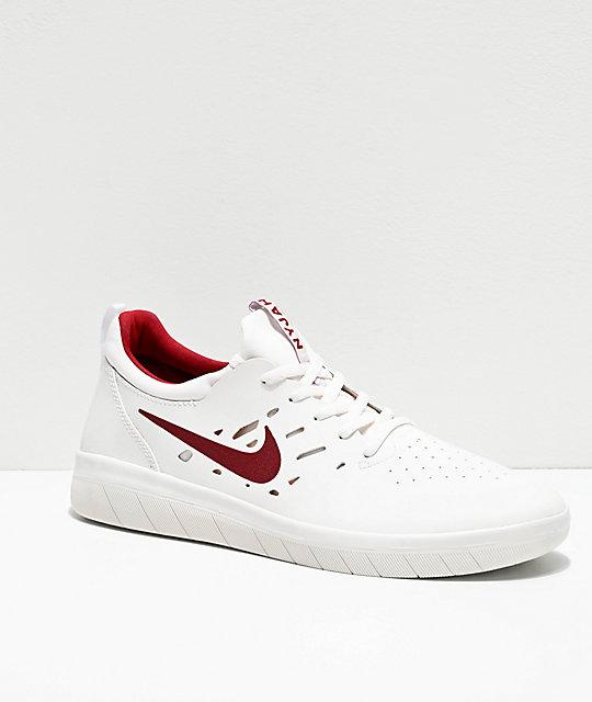 Nike SB Nyjah Free Sneakers Summit WhiteTeam Crimson