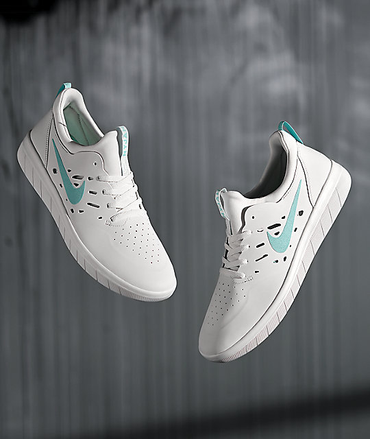 various design reliable quality top design Nike SB Nyjah Free White & Tropical Twist Skate Shoes
