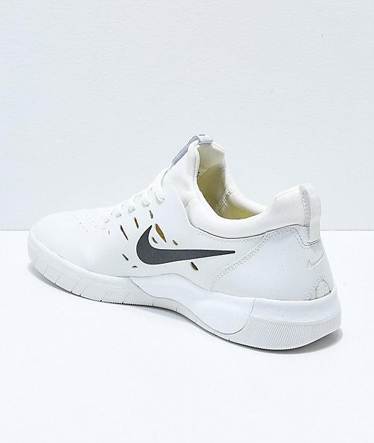 d7d57ad1e656f ... Nike SB Nyjah Free White Skate Shoes ...