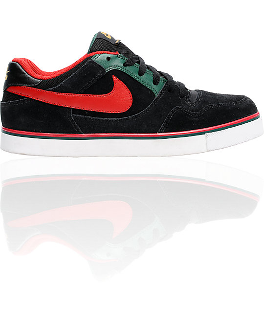 finest selection 0ab80 450ec Nike SB P-Rod 2.5 Black  Varsity Red Shoes  Zumiez