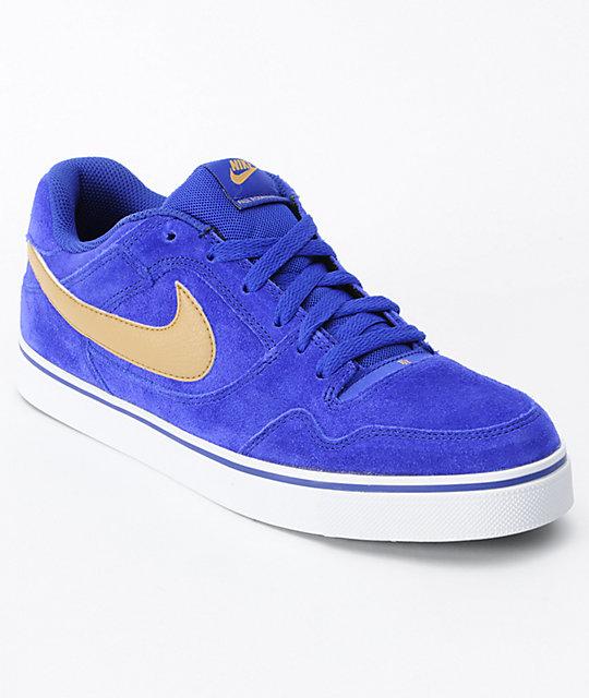 Nike SB P-Rod 2.5 Blue   Gold Skate Shoes  e46b3df95