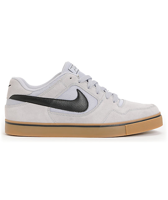 Nike SB P-Rod 2.5 Wolf Grey & Gum Suede Skate Shoes