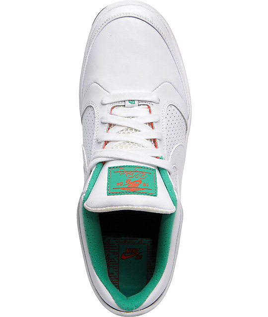 Nike SB P-Rod 4 Green & White Shoes