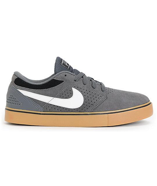 c1140fd34bf8 ... Nike SB P-Rod 5 LR Dark Grey   Gum Skate Shoes