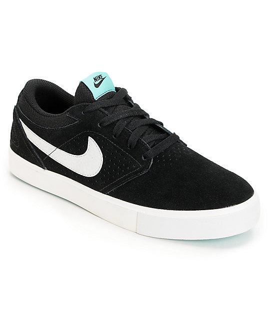on feet images of best quality best sell Nike SB P-Rod 5 LR Lunarlon Black & Mint Skate Shoes