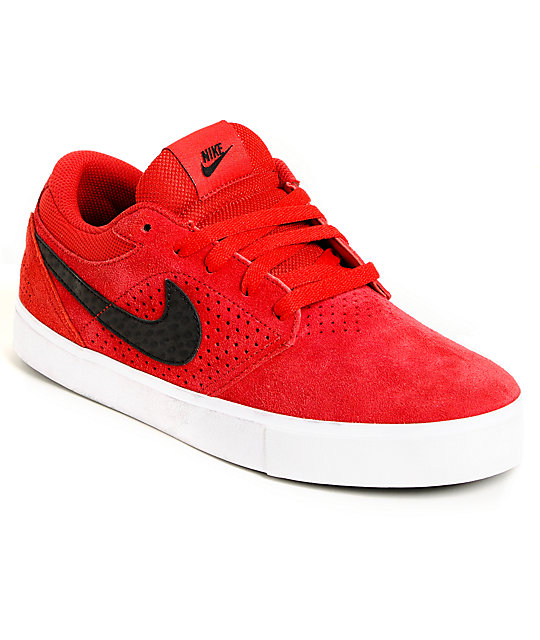 Nike SB P-Rod 5 LR Lunarlon Gym Red Suede Skate Shoes ...