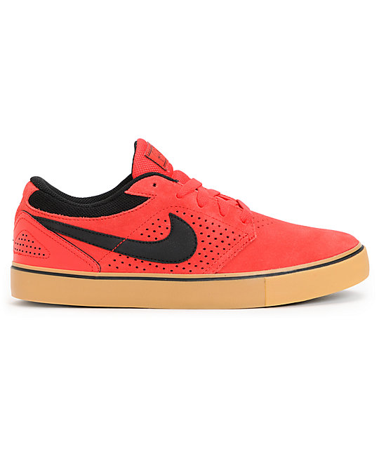 innovative design 3a15b 07efd ... Nike SB P-Rod 5 LR Lunarlon Hyper Red  Gum Suede Skate Shoes