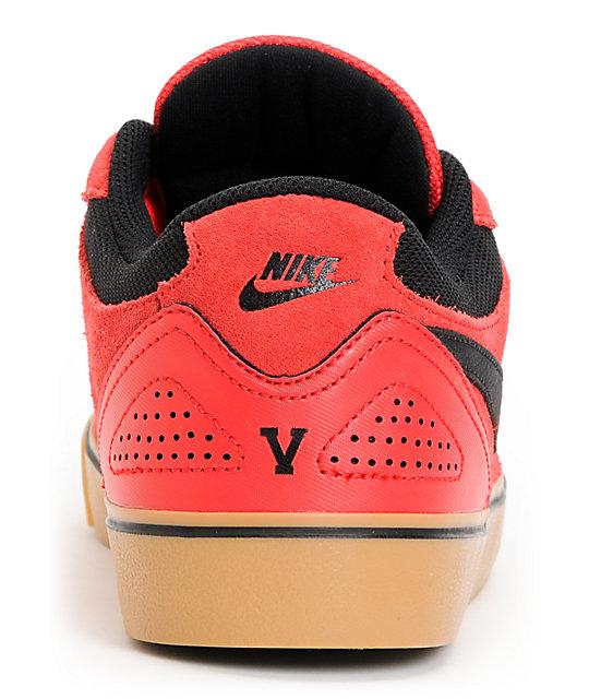 online store 9d53a bac0a ... Nike SB P-Rod 5 LR Lunarlon Hyper Red  Gum Suede Skate Shoes ...