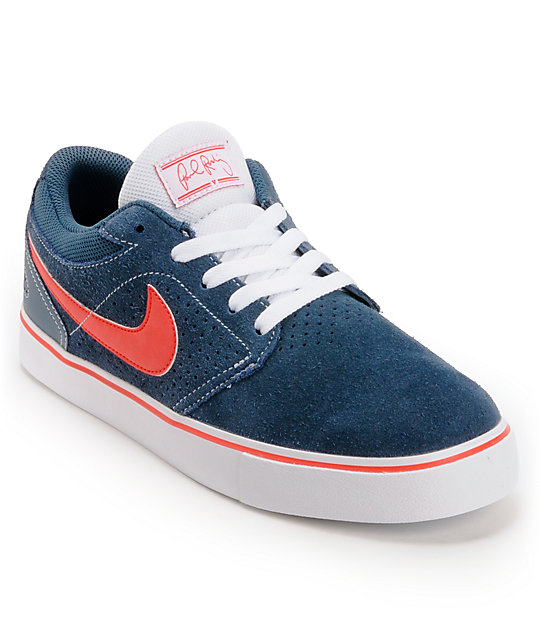 Nike SB P-Rod 5 LR Squadron Blue. White, & Pimento Skate Shoes