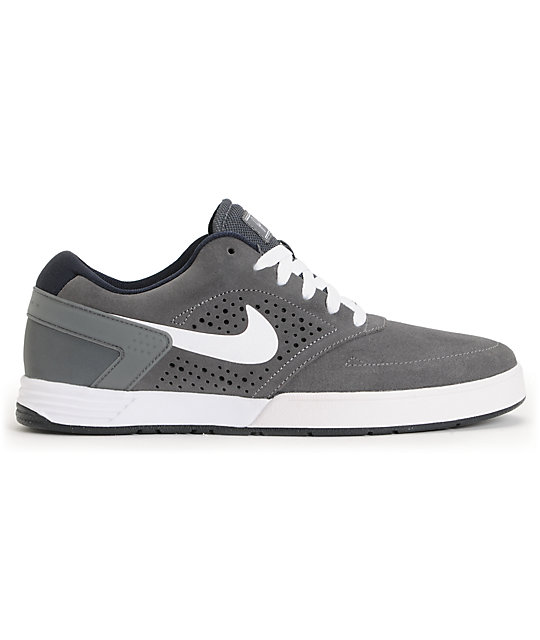 Nike SB P-Rod 6 LR Dark Grey, White & Dark Obsidian Skate Shoes